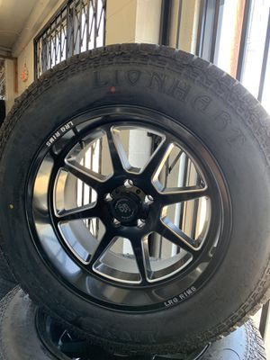 """20"""" Jeep Wheels 5x5 Black With Radial Tires for Sale in Huntington Park, CA"""