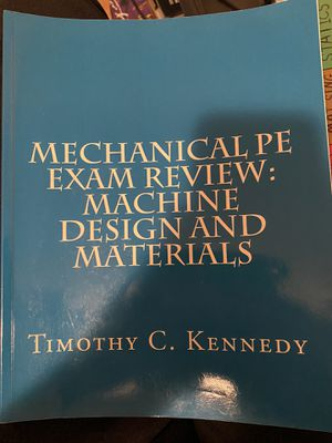 Mechanical PE machine design Kennedy review book for Sale in Glendale, CA