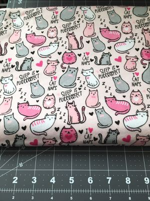 Flannel Cat Fabric 2 Yards for Sale in Citrus Heights, CA