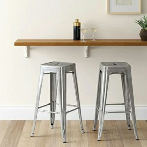 "Tolix Style Metal Barstool 30"""" Bar Height, Indoor Outdoor. Beautiful Glossy Gunmetal Finish for Sale in South El Monte, CA"
