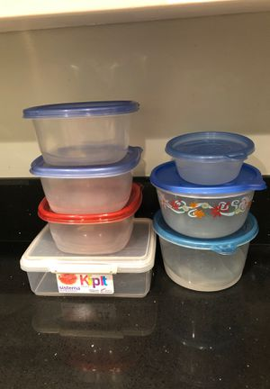 7 plastic storage containers for Sale in Fullerton, CA
