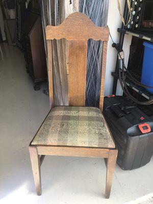 Set 4 antique oak chairs for Sale in Jupiter, FL