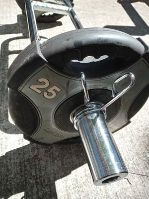 Olympic hammer curl with weights and bar 225 for Sale in West Hempstead, NY