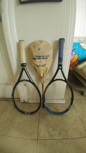 2 Wilson tennis rackets and a squash racket. All in great condition for Sale in San Diego, CA