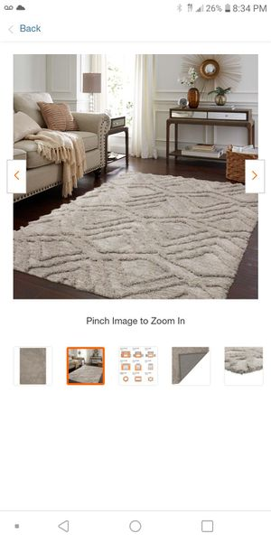 Brand New, Never Used Zafi Area Rug 7ft x 10ft for Sale in Cleveland, OH