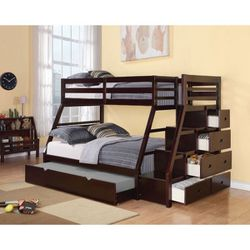 Bunk Bed With Trundle 🛏 Mattresses included for Sale in Hollywood,  FL