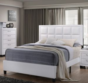 Brand new queen leather bed frame no mattress for Sale in Miami, FL