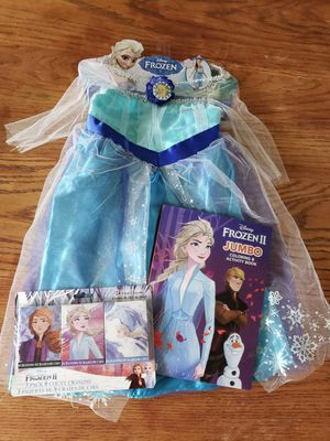 Disney Frozen Elsa Costume Girl Ice Queen Dress 4-6x (3 years-old)with goodies for Sale in LAUD LAKES, FL