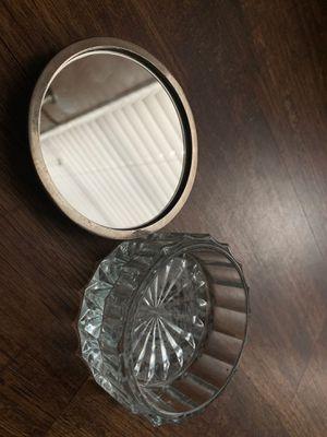 Antique powder jar with mirror for Sale in Virginia Beach, VA