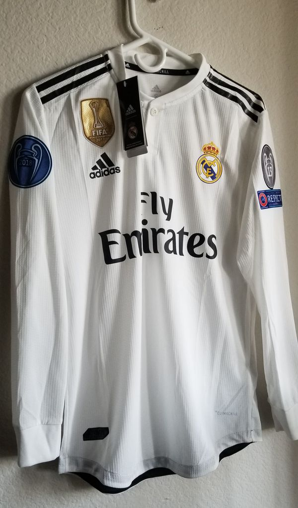 9742e231d Adidas Mens 18 19 Real Madrid home away JERSEY long sleeves climachill  authentic