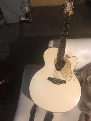 Gretsch white 12 string acoustic electric guitar for Sale in Nashville, TN