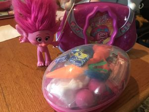 Easter egg trolls purse and toy for Sale in Memphis, TN