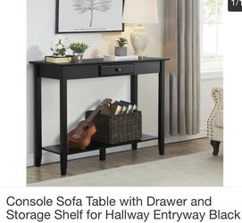 Console sofa table with drawer-brand new, still in box for Sale in Allen Park,  MI