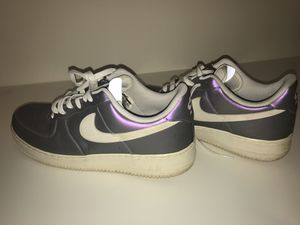 Nike Air Force 1 '07 LV8 Size 10.5 Iced Lilac/ Summit Purple Metallic for Sale in Takoma Park, MD