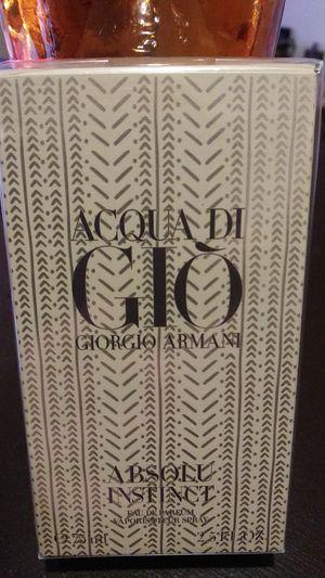 Acqua di Gio Giorgio Armani,Absolu Instinct mens fragrance for Sale in Fairfax, VA