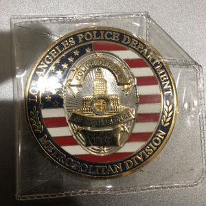 Los Angeles police department Metropolitanu division Coin for Sale in San Diego, CA