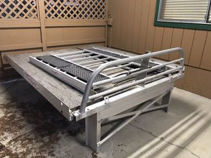 8 foot Marathon aluminum sled deck with telescoping ramp for Sale in Ronald, WA