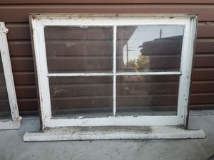 Two 1921 woodframe & glass windows - FREE! for Sale in Glendale, CA