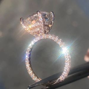 Sparking Simulated Round Cut Diamond 14K Rose Gold Engagement Ring Size 7 for Sale in Rockville, MD