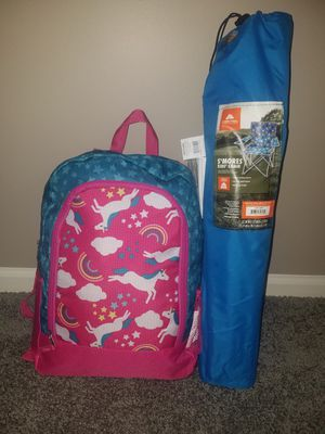New Kids S'mores Chair and Sleeping Bag/Backpack Set for Sale in Sterling Heights, MI