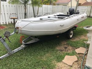 Inflatable Boat Saturn 15' with Motor for Sale in Fort Lauderdale, FL
