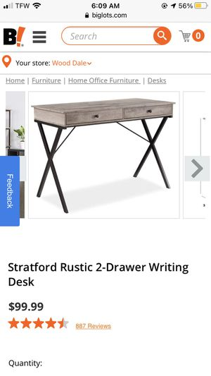 Rustic computer desk for Sale in Wood Dale, IL