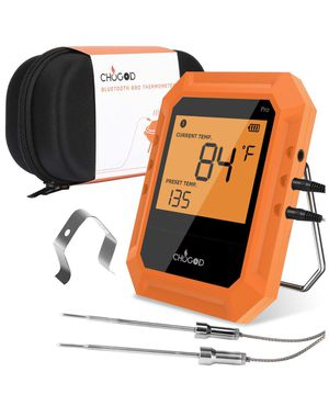 Brand new! BBQ Meat Thermometer, Bluetooth Remote Cooking Thermometer, Digital Oven Thermometer with 6 Probe Port for Smoker Grilling (Carrying Case for Sale in Miami, FL