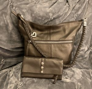 Brighton leather handbag and wallet for Sale in New Braunfels, TX