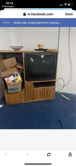 Entertainment center with TV for Sale in Riverview, MI