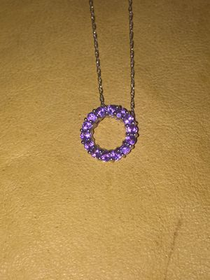 10k White gold Amethyst necklace for Sale in West Valley City, UT