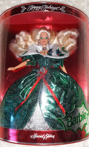 3 Holiday Barbies in new condition they have never been open for Sale in San Jacinto, CA