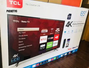 "65"" 4K TCL ROKU UHD HDR SMART LED TV 2160P TAX ALREADY INCLUDED FREE LOCAL DELIVERY for Sale in Phoenix, AZ"