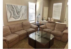 Reclining 2 Piece Sofa and Coffee Table for Sale in Irvine, CA
