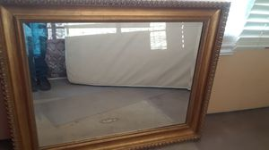 Gold colored frame, good mirror for Sale in Jacksonville, FL