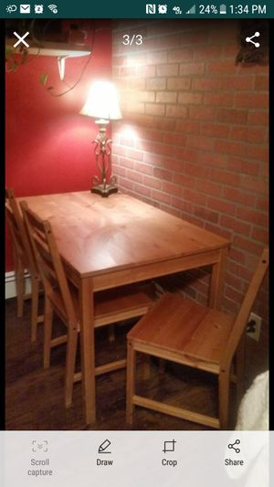 Solid Wood Kitchen Table Set for Sale in Seabrook, NH