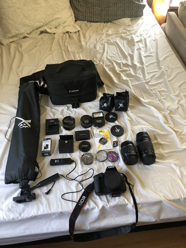 Canon eos 5 rebel 17. With 75- 300 18-55 lenses