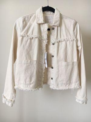 Zara Women's White Denim Jacket, Size XS for Sale in Washington, DC