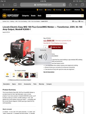 Lincoln electric mig welder for Sale in Richmond, CA