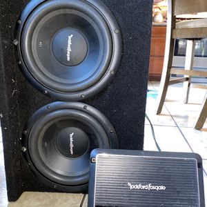 Rockford Fosgate prime R250x1 Amplifier And Speaker for Sale in Stockton, CA