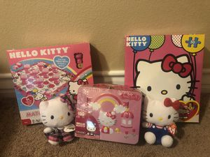 Brand New - Lot of 5 Hello Kitty Items Including Lunch Box Floor Puzzle and Plush Stuffed for Sale in Rancho Cucamonga, CA
