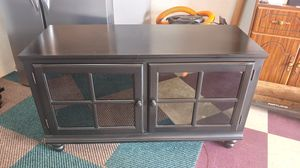 TV stand or entry way glass door with shelves for Sale in Toms River, NJ