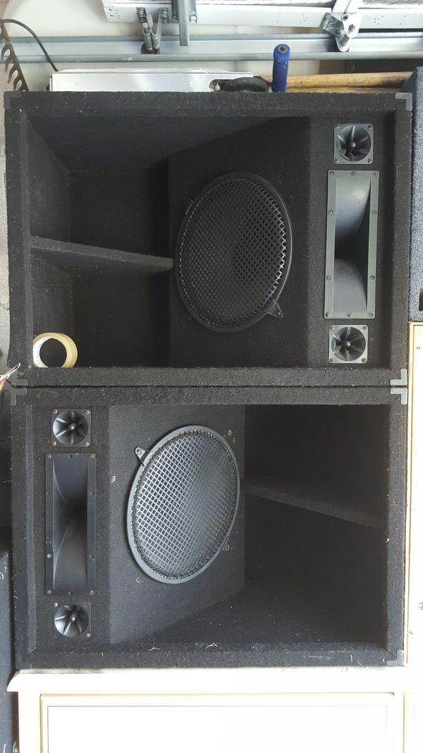 Horne loaded dj speakers