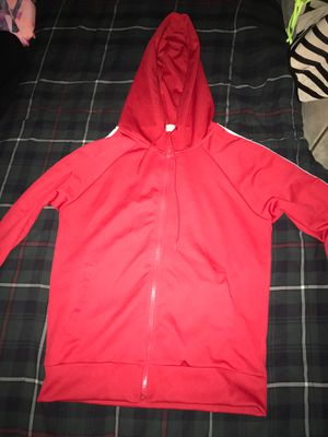 Red and white stripes jacket/hoodie for Sale in Fort Lauderdale, FL