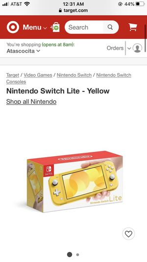 Nintendo Switch Lite-Yellow for Sale in Humble, TX