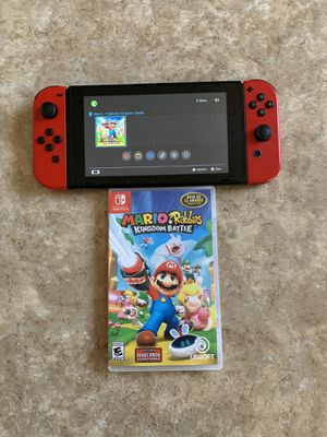 Nintendo Switch with Game & Red Joy-Cons for Sale in San Bernardino, CA