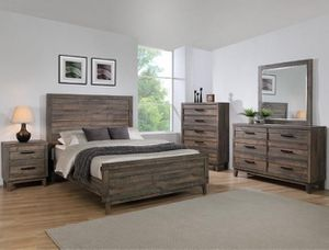 "Bedroom set Queen bed +Nightstand +Dresser +Mirror ""Mattress &Chest not included "" for Sale in Bell Gardens, CA"