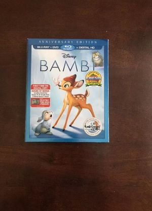 Disney Bambi Dvd and blu ray and hd new for Sale in Charter Township of Clinton, MI