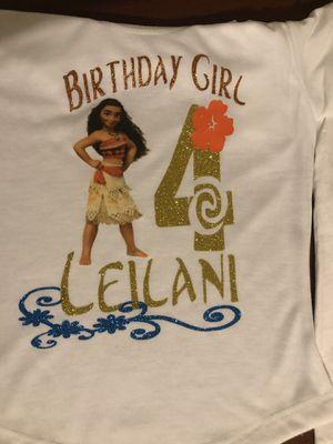Moana Birthday Shirts for Sale in Phoenix, AZ