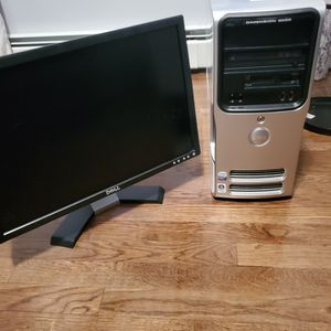Dell E520 Desktop and Monitor for Sale in Westfield, NJ