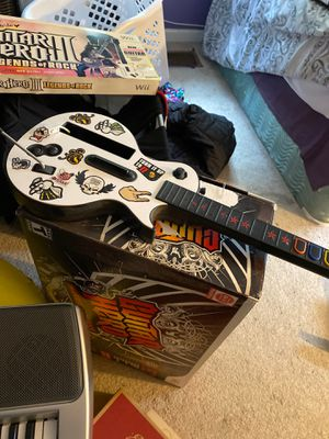 Free Wii Guitar Hero Set Rock bnd for Sale in Woodbridge, VA